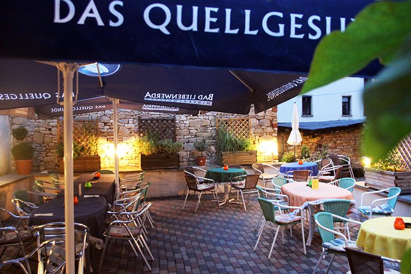 Aussenbereich Restaurant La Sosta Querfurt